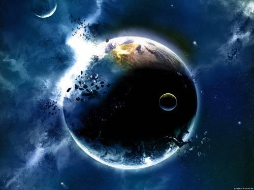 Земля , планета, зіткнення, метеорит, біологічний матеріал, життя