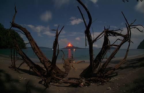 комета, вулкан, Кракатау, Індонезія, виверження