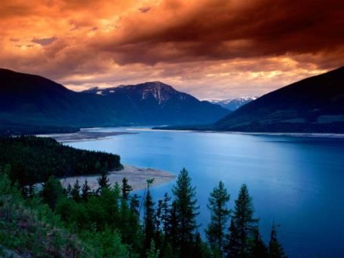 Канада, озера, висихання, зйомка, карта