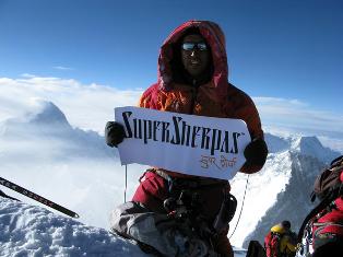 Аппа Тенцинг, шерпа, Еверест, альпініст, рекорд