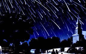 новорічна ніч, зорепад, метеоритний потік, падаюча зірка, зоряний дощ
