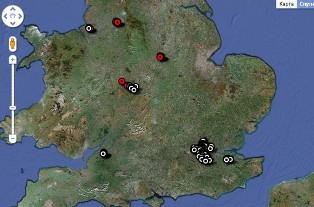 Великобританія, лондон, заворушення, карта, Google