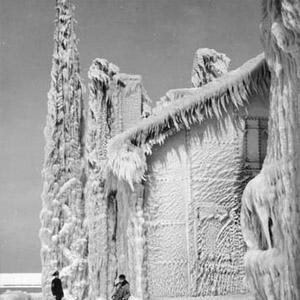 маяк, США, Огайо, озеро, лід