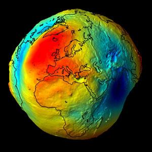 геоїд, квазігеоід, форма Землі, спутникові знімки, GOCE