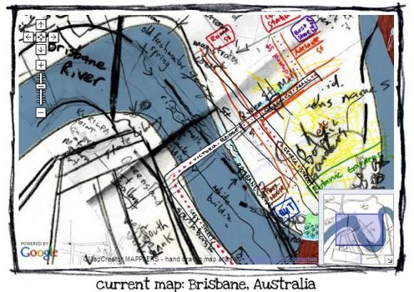 карта, намальвані від руки, Mapplers