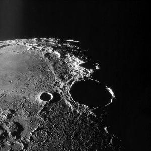 Місяць, зменшення, розміри, охолодження