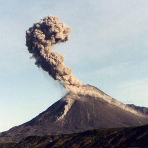 Шивелуч, вулкан, Камчатка, попіл