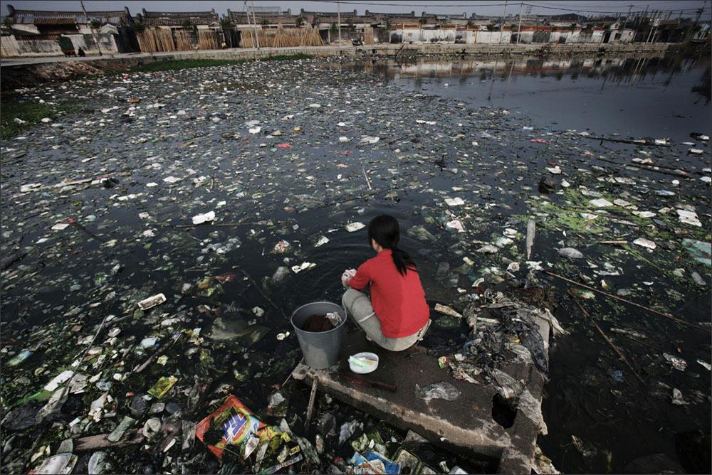 забруднення води, Китай, природокористування
