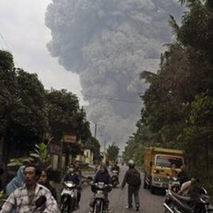 вулкан, мерапі , Індонезія