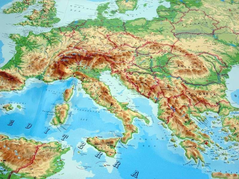 Європа берегова лінія основні риси